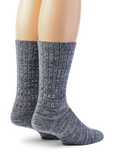 Spontaneous Space Dye Ribbed Casual Crew Socks  Back View
