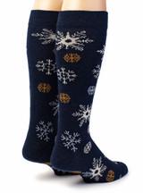 Snowflake Alpaca Wool Socks Rear View