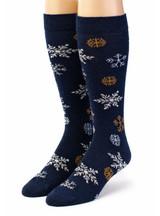 Snowflake Alpaca Wool Socks Front View