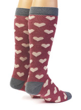 Heart Murmur Baby Alpaca and Bamboo Dress Socks Back View