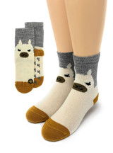 Happy Alpaca Family- Non-Skid Alpaca Socks for Children Kids sock view Main