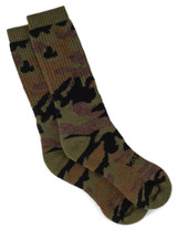 Sylvan Camouflage Alpaca Wool Hunting Socks - Unisex Flat View