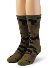Sylvan Camouflage Alpaca Wool Hunting Socks - Unisex Front View