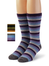 Lifesaver - Multi Colored Terry Lined Crew Outdoor Alpaca  Wool Socks - Main thumbnail