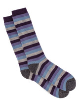 Lifesaver - Multi Colored Terry Lined Crew Outdoor Alpaca  Wool Socks - Flat View