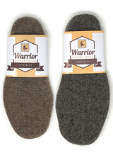 Felted Alpaca Insoles & Liners for Shoes & Boots Brown, Grey