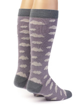 Women's Cloudy Day Baby Alpaca and Bamboo Dress Sock Back View