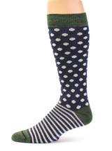 Celestial Dots & Stripes Baby Alpaca and Bamboo Dress Sock Side View