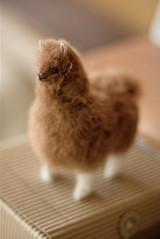 100% Baby Alpaca Fur Alpaca Figurine and Stuffed Plush Toy 5 inch.