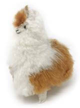 100% Baby Alpaca Fur Alpaca Figurine and Stuffed Plush Toy 7 inch.