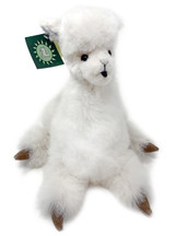 Alpaca Plush Pillow Soft Stuffed Animal  made from 100% Alpaca Wool - White
