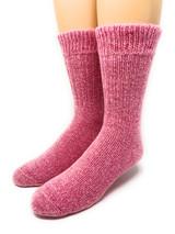 Toasty Toes Comfort Band Crew - Ultimate Alpaca Socks - Breast Cancer Awareness Toe