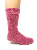 Toasty Toes Comfort Band Crew - Ultimate Alpaca Socks - Breast Cancer Awareness Side