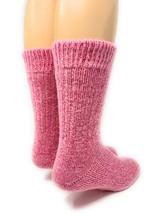 Toasty Toes Comfort Band Crew - Ultimate Alpaca Socks - Breast Cancer Awareness Heel