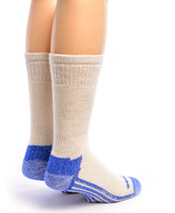 High Performance Crew Athletic Socks White Back