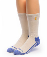 High Performance Crew Athletic Socks White Front