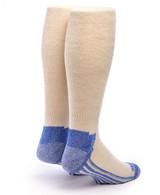 High Performance Knee High Athletic Alpaca Socks White Back