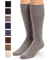 Ribbed Casual Alpaca Socks Showing color options