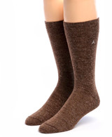 Men's Trouser Socks - Alpaca Wool Front View Walnut