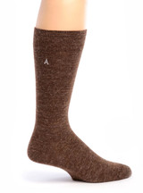 Men's Trouser Socks - Alpaca Wool Side View Walnut