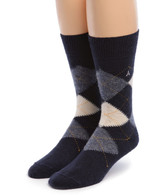 Baby Alpaca Argyle Socks Front Blue