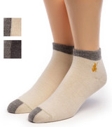 Light Mini Crew Alpaca Socks Cream / Gray & Cinder / Gray swatch