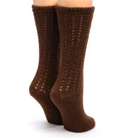 Reversible Hand Knit 100% Alpaca Wool Socks Back View