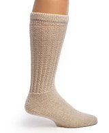 Therapeutic Terry Lined Alpaca Socks Inside Natural