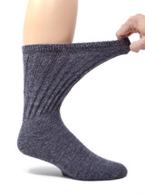 Therapeutic Terry Lined Alpaca Socks - Expands for pressure free comfort.