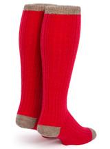 Long John Alpaca Wool Socks - Unisex  Back View