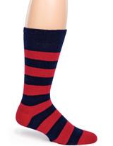 Vintage Rugby Stripe Dress Alpaca Wool Socks Side View