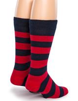 Vintage Rugby Stripe Dress Alpaca Wool Socks Back View