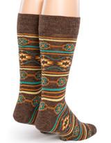 Southwest Alpaca Wool Socks Back View