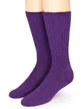 Ribbed Casual Alpaca Socks Front