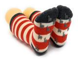 Striped Toddler Alpaca Socks  - Non-Skid Bottom View