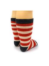 Striped Toddler Alpaca Socks  - Non-Skid Back View