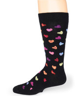 Sweetheart Candy Hearts LOVE - 100% Alpaca Wool Socks Side View