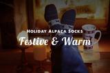 Trendy Holiday Alpaca Socks