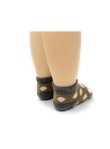 Baby Alpaca Spot On Anklet - Infant & Toddler Socks Heel View