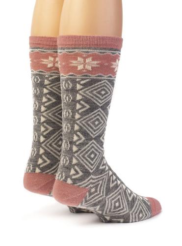 Women's Nordic Star Alpaca Wool Socks  Back View
