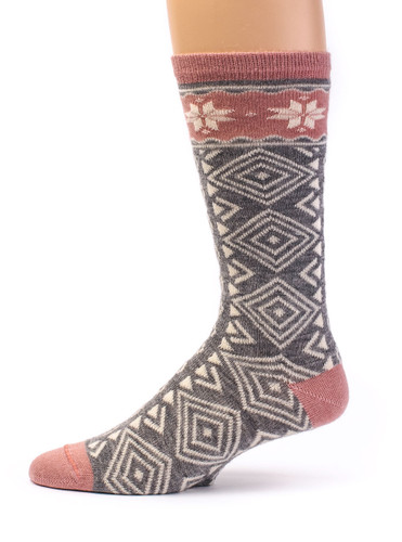 Women's Nordic Star Alpaca Wool Socks  Side View