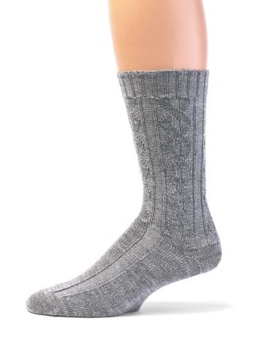 Source of Envy -  Women's Cable Alpaca Wool Socks Side View