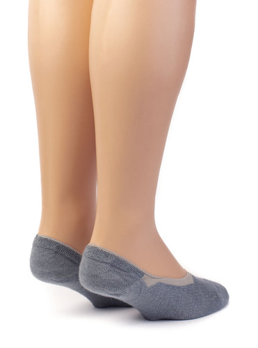 No-Show Ghost 4-Season Socks with Alpaca and Bamboo Heel View