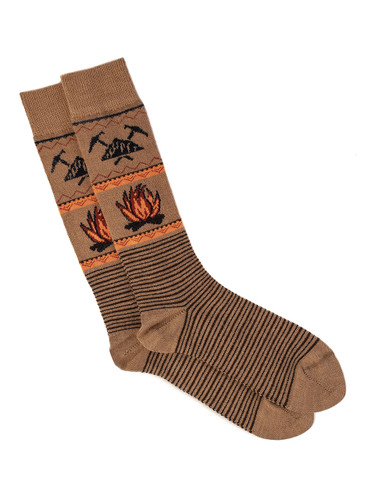 Campfire Alpaca Wool Socks - Unisex Flat View