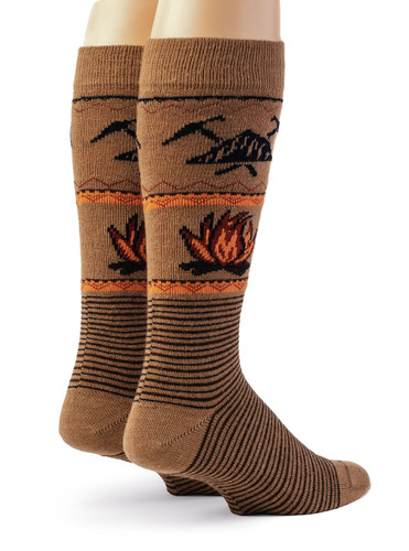 Campfire Alpaca Wool Socks - Unisex Back View