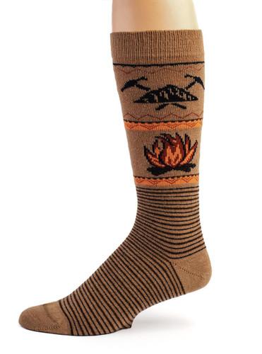 Campfire Alpaca Wool Socks - Unisex Side View