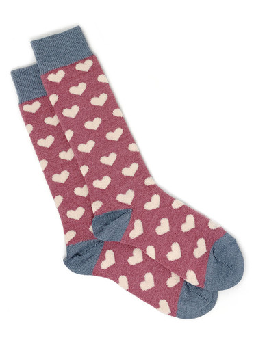 Heart Murmur Baby Alpaca and Bamboo Dress Socks Flat View