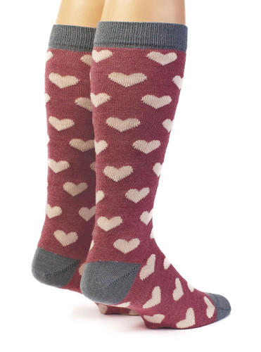Heart Murmur Baby Alpaca and Bamboo Dress Socks Back View