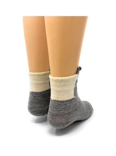 Peek-A-Boo Paca - Kid's Baby Alpaca Non-Skid Socks Back View