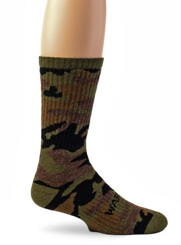 Sylvan Camouflage Alpaca Wool Hunting Socks - Unisex Side View